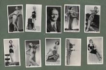 Old Cigarette cards Real Photographs 1939 Pin-up, aviation, boxing + etc